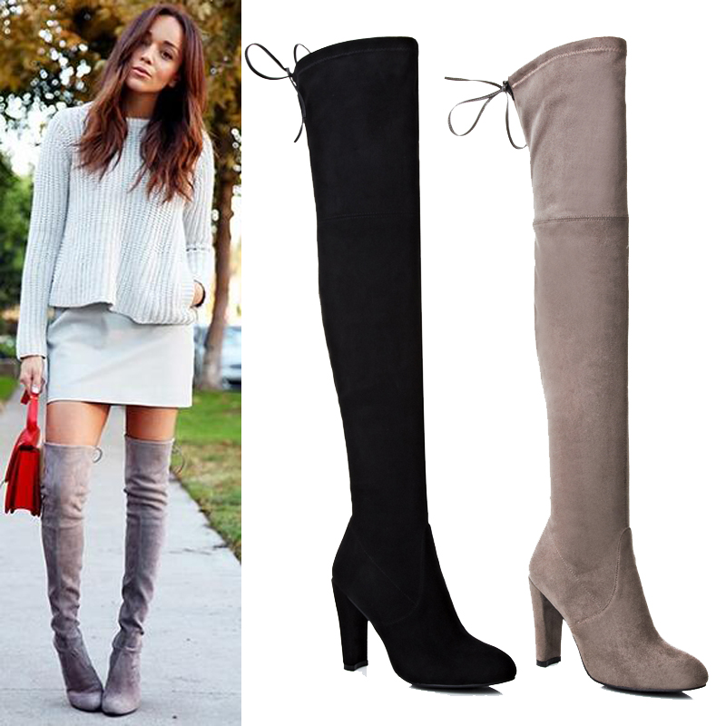 thigh high boots without heel | Gommap Blog