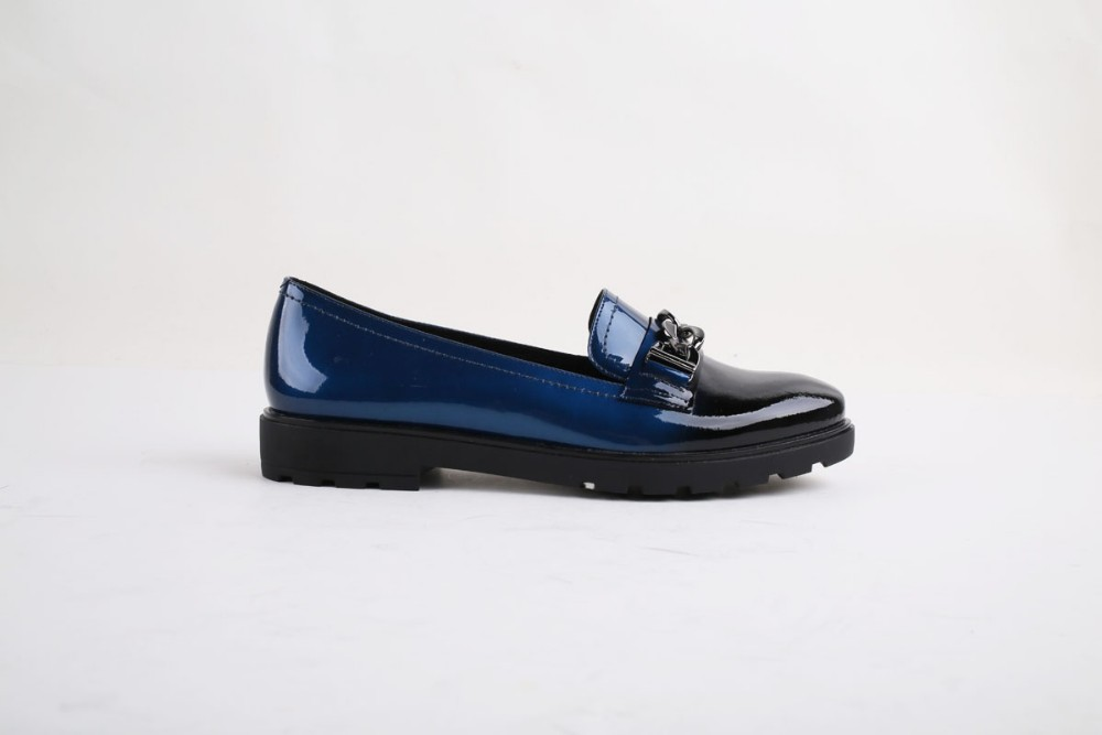 Bacia Chian Decorated Women Round Toe Loafers Gradient Spring Summer Flat  Leather Shoes Black Blue Red Flats Moccasins VC023