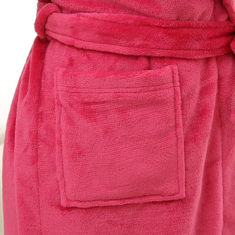 Unisex Mens Women\`s Long Polyester Sleep Lounge Robes RBS-C LYQ114 17