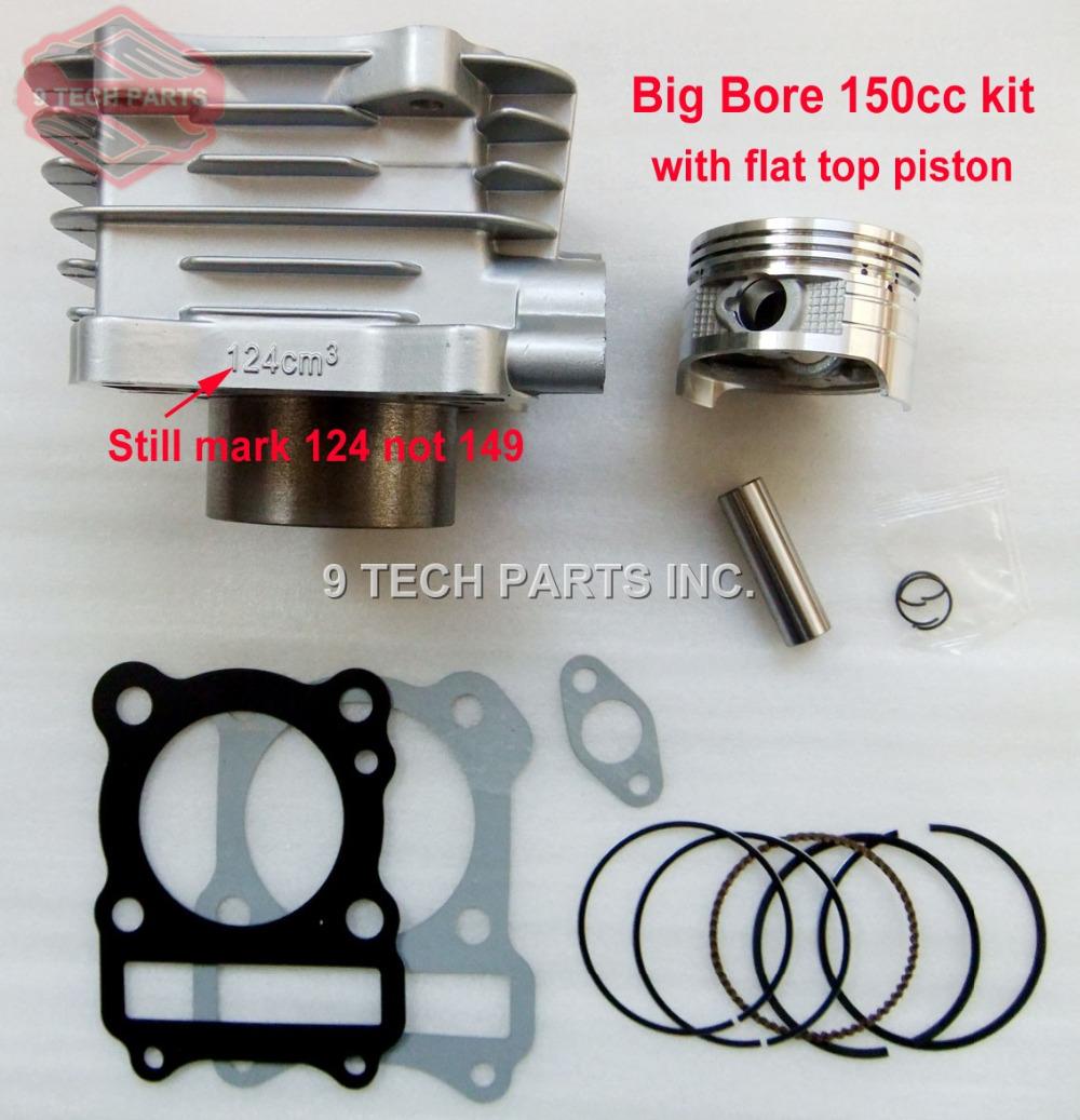 BIG BORE Barrel Cylinder Piston Kit 150cc 62mm for GS125 GN125 EN125 GZ125 DR125 TU125 157FMI K157FMI engines(China (Mainland))