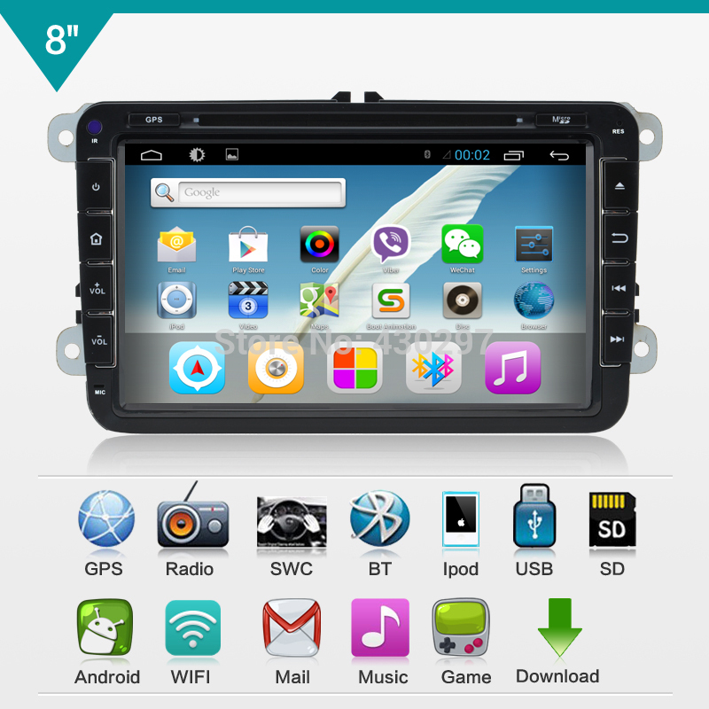 Android 4.2 double din Car DVD player pc For Volkswagen GOLF V PASSAT TSI GPS+Glonass wifi 3G radio(China (Mainland))