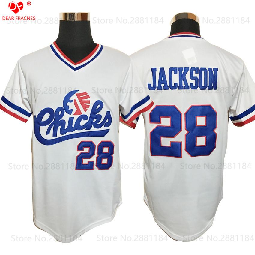 Cheap Throwback Baseball Jerseys #28 Bo Jackson Jerseys Chicks Base Jerseys American Baseball Jerseys White Shirts All Stitched(China (Mainland))
