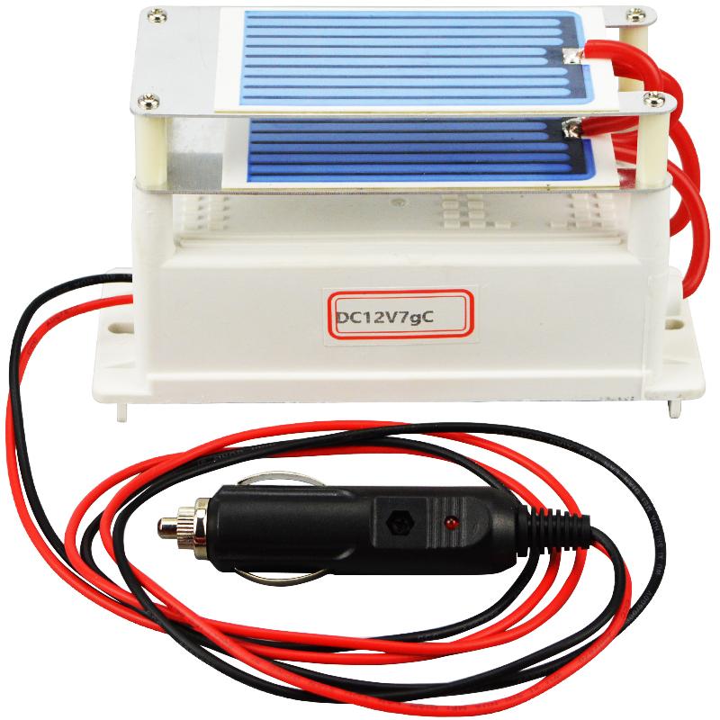 New Air Purifier Ozone Generator 12v 7g Car Ozonizer Air Cleaner Ceramic Plate Sterilizer Air Freshener For Car(China (Mainland))