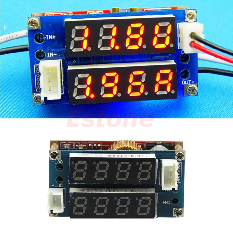 Hot Selling 1PC 5A Adjustable Power CC/CV Step-down Charge Module LED Driver Voltmeter Ammeter(China (Mainland))