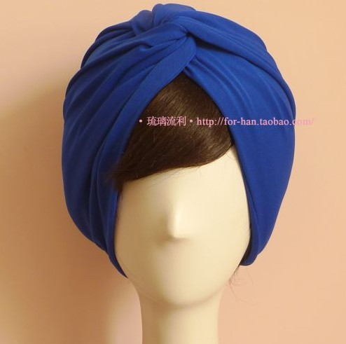 Fashion Star Same Style Show Solid Color Double Faced Volvulus Headband Female Hair Bands Woman Street Turban Badanas Much Color(China (Mainland))