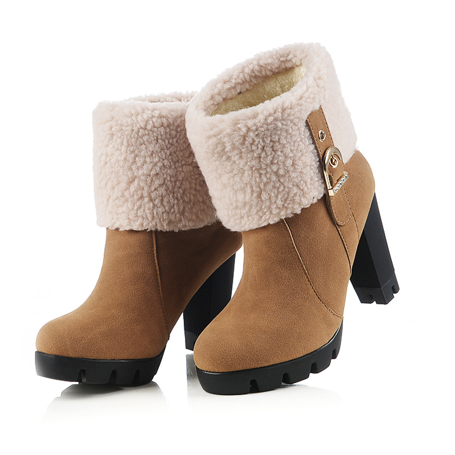 Sexy high heel platform winter ankle boots for women shoes woman(China (Mainland))