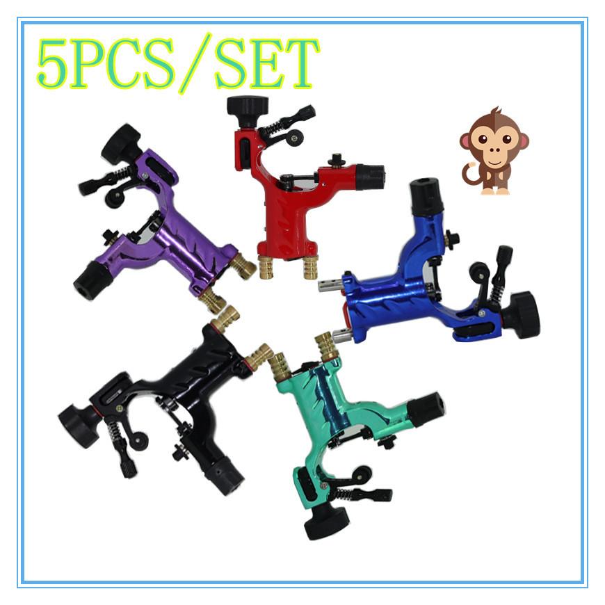 5pcs Dragonfly Rotary Tattoo Machine Shader & Liner Random Color Assorted Tatoo Motor Gun Kits Supply For Artists(China (Mainland))
