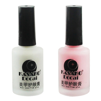 15ml Makeup Peel Off Liquid Tape & Peel Off Base Coat Nail Art Care White Pink # 77111