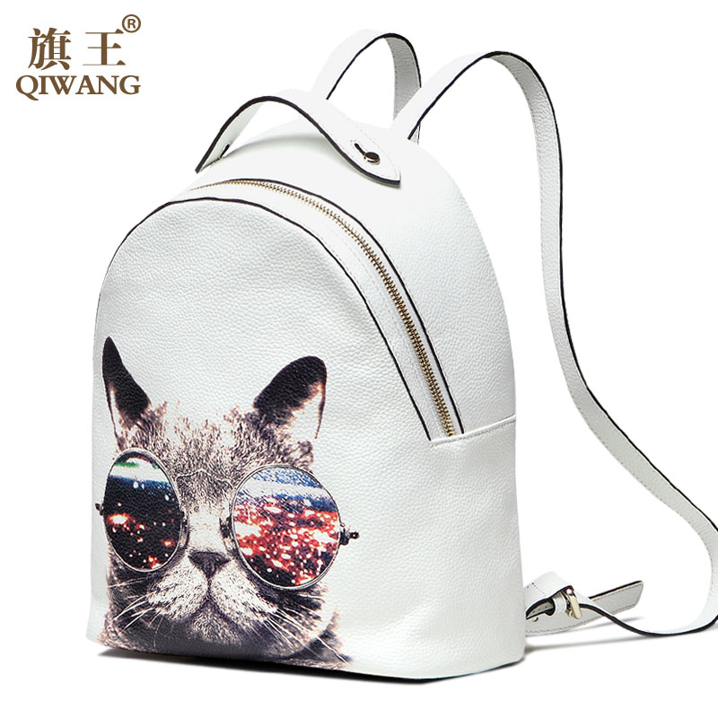 young lady fashion genuine leather backpack cow Leather Backpack School bag Purse College Bag<br><br>Aliexpress