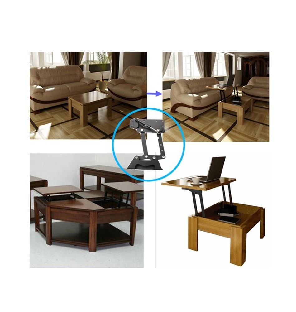 furniture design hydraulic table lifting mechanism,spring assist pop up coffee table mechanism, table top swing up Free Shipping(China (Mainland))