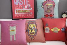 Graffiti Linen pillow cushion,pillowcase
