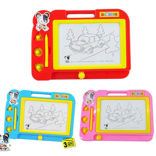 Plastic Magnetic Drawing Board Sketch Sketcher Pad Doodle Writing Painting Toy Craft Art For Kids Children Multi Color