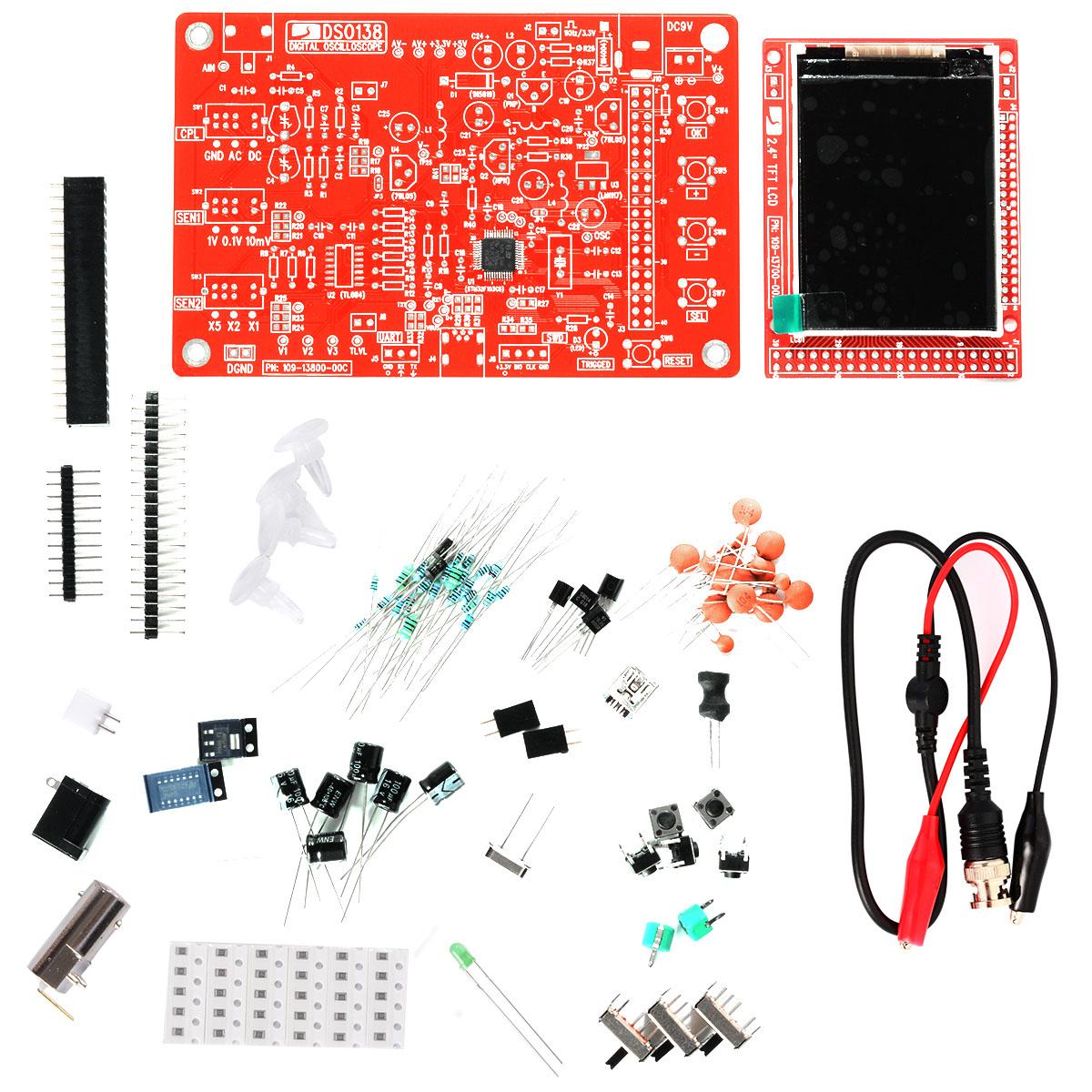 DSO138 2.4 TFT Digital Oscilloscope Kit DIY Parts ( 1Msps ) Probe STM32 TE244<br><br>Aliexpress
