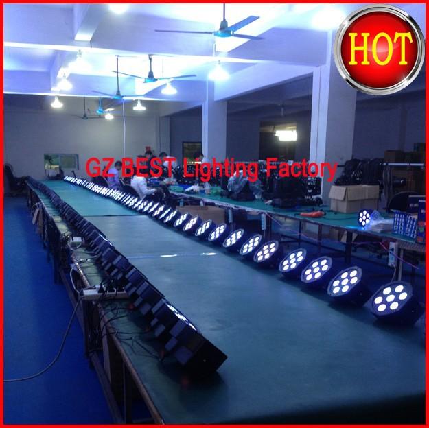 LED Flat Par Tri 7 Wash Light 1-12