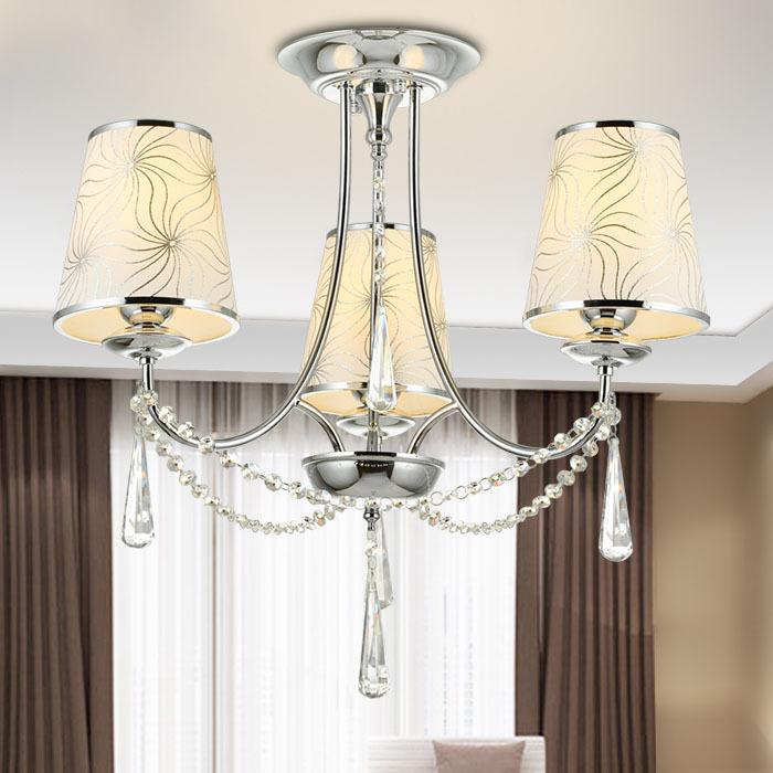 buy modern chandelier 3 arms e27 socket crystal chandelier bedroom