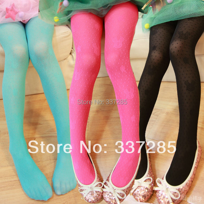 autumn tights for children  lovely micky tights for girls multicolor tights for kids warm tights for girls children pants