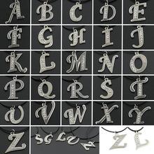 1 PCS Charm Women Men Gift Platinum Plated Letter Name Initial Chain Pendant Fashion Necklaces B/C/F/G/HK/L/M/O/P/Q/R/V/W/X/Y/Z(China (Mainland))