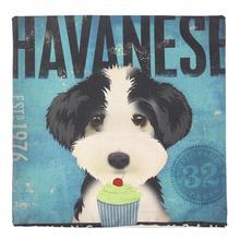 Havanese Cute Pet Dog cartoon Linen Cover