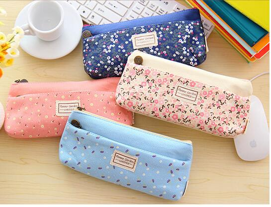 Lovely Double Zipper flower Pencil case Portable Student Stationery Storage Pencil Bag for school office material supplies <br><br>Aliexpress