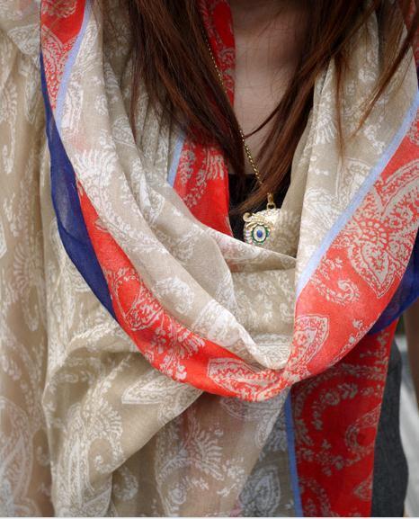 Новый большой размер женщин богема национальная тенденция осень и зима шарф