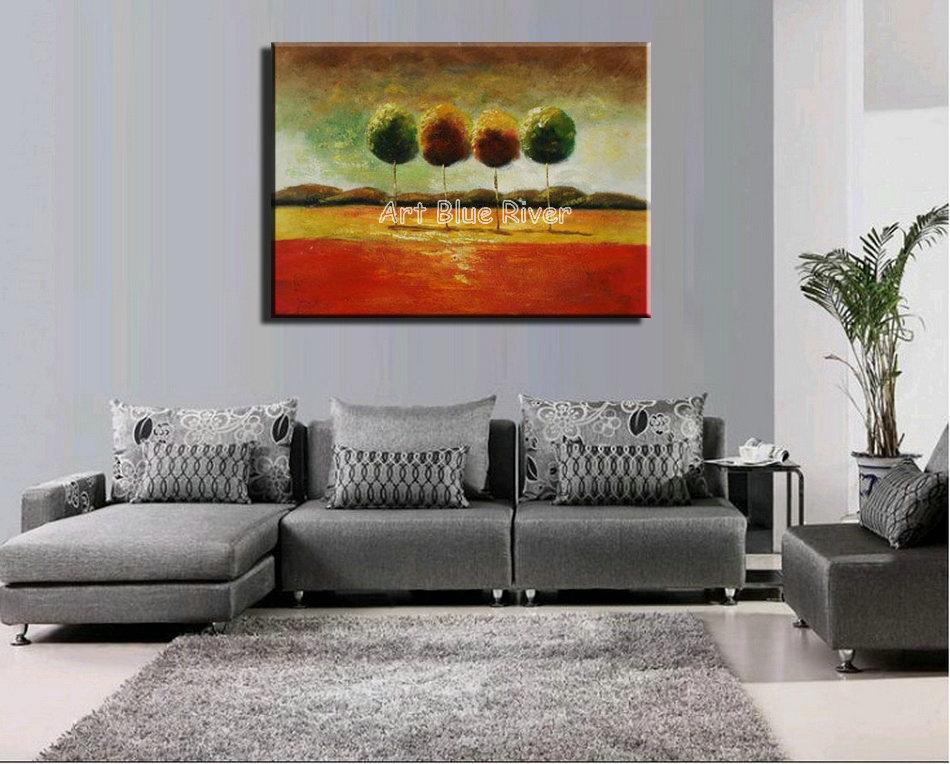 d coratif acrylique paysage mur panneaux abstraite moderne. Black Bedroom Furniture Sets. Home Design Ideas