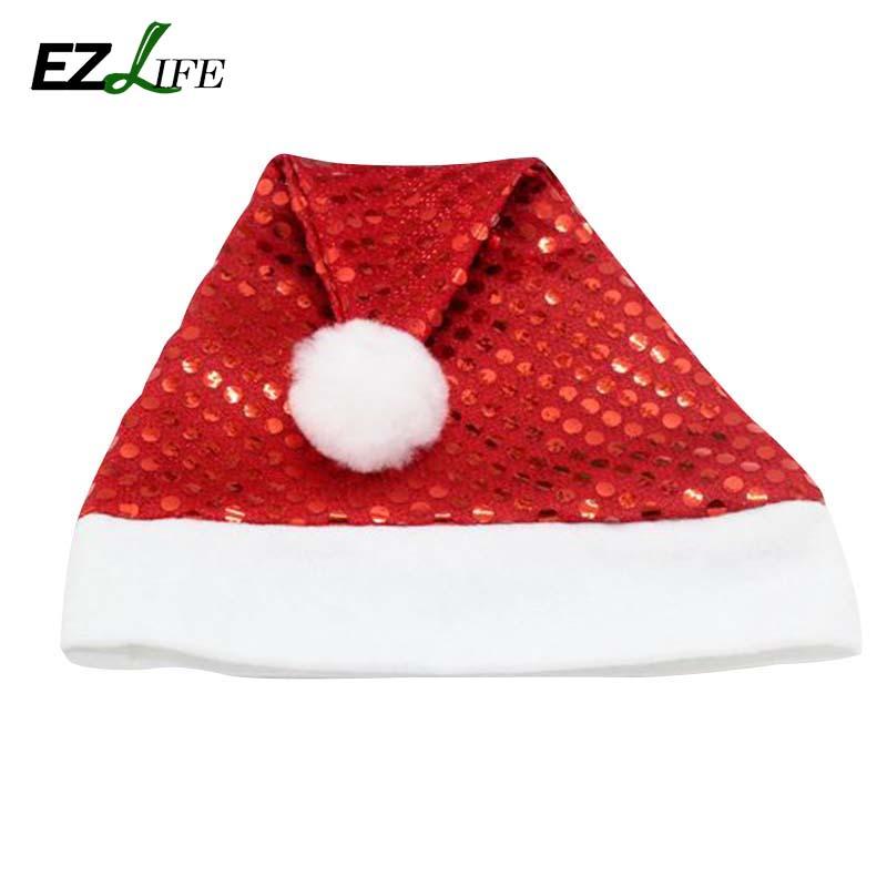 1 pcs/lot Funcy Party Sequin Hats Christmas Xmas Santa Soft Glitter Bling Hats Free Shipping CT0293(China (Mainland))