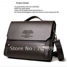 Men's PU Leather Shoulder Messenger Briefcase Bag Bookbag M003(China (Mainland))