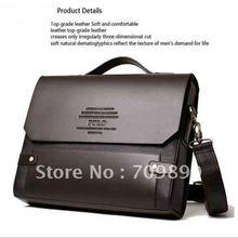 Männer PU Leder Schulter Messenger Aktentasche Tasche Bookbag M003(China (Mainland))