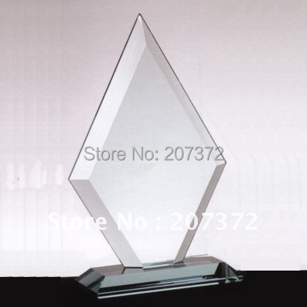 Free shipping size 200*120*50mm Jade glass award for decoration, glass business gifts, glass trophy(China (Mainland))