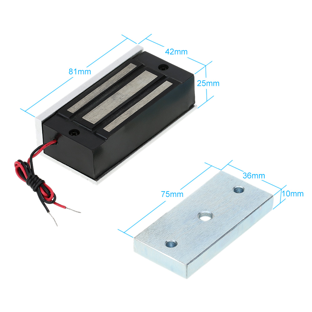 Mini Electric Lock 60KG/132lb Magnetic Lock For Door Fail Secure DC 12V for Door Entry Access Control System(China (Mainland))