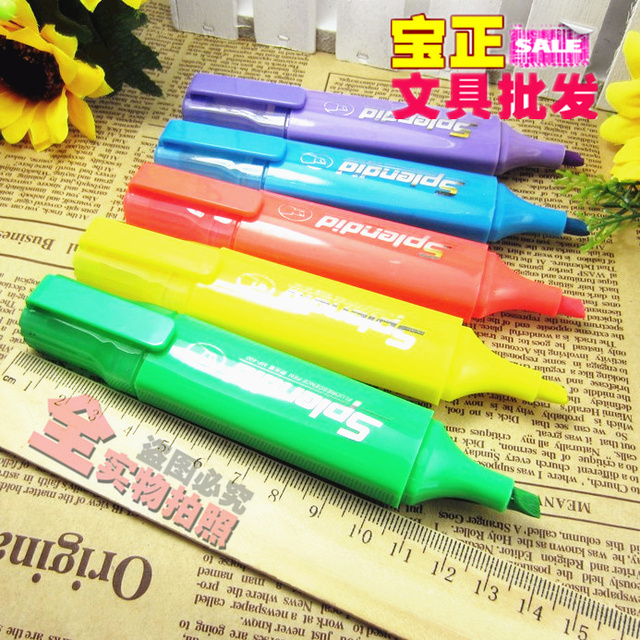 Mp490 neon pen single-head 6 coarse supplies stationery