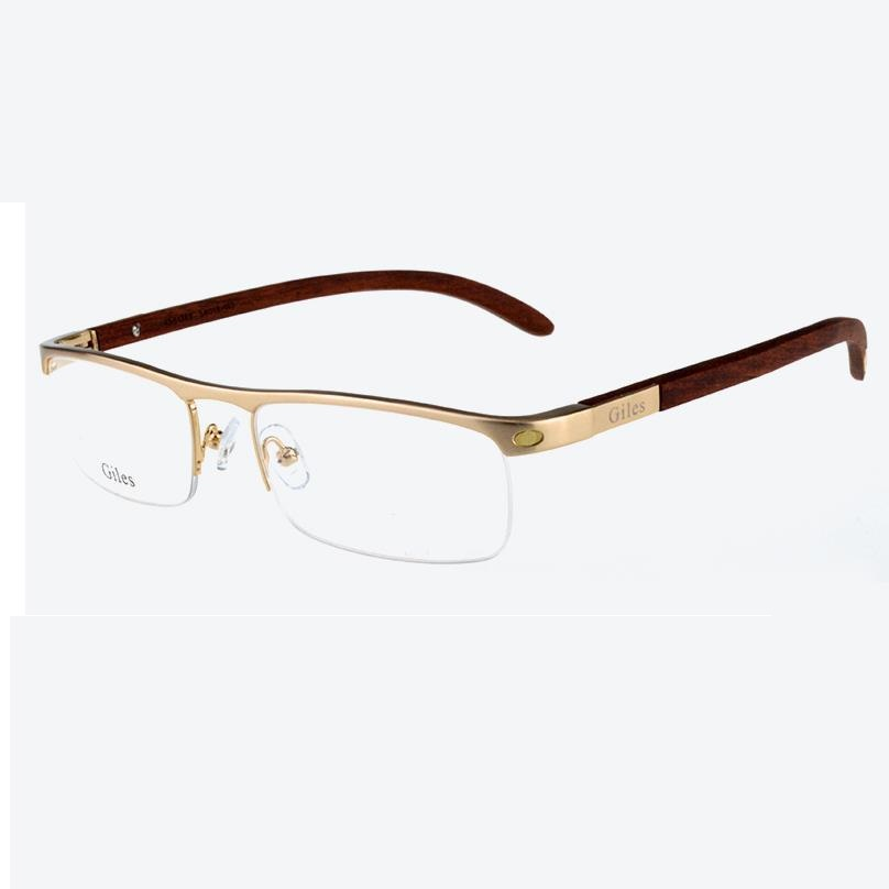 Custom Gold Eyeglass Frames : Popular Men Wooden Frame Glasses-Buy Cheap Men Wooden ...
