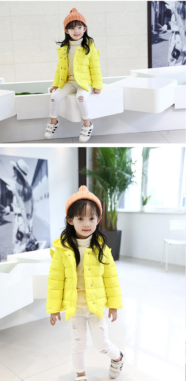 Скидки на 2016 осень и зима Девушки теплый хлопок пуховик специальное предложение оптовая утолщение одежда для детей