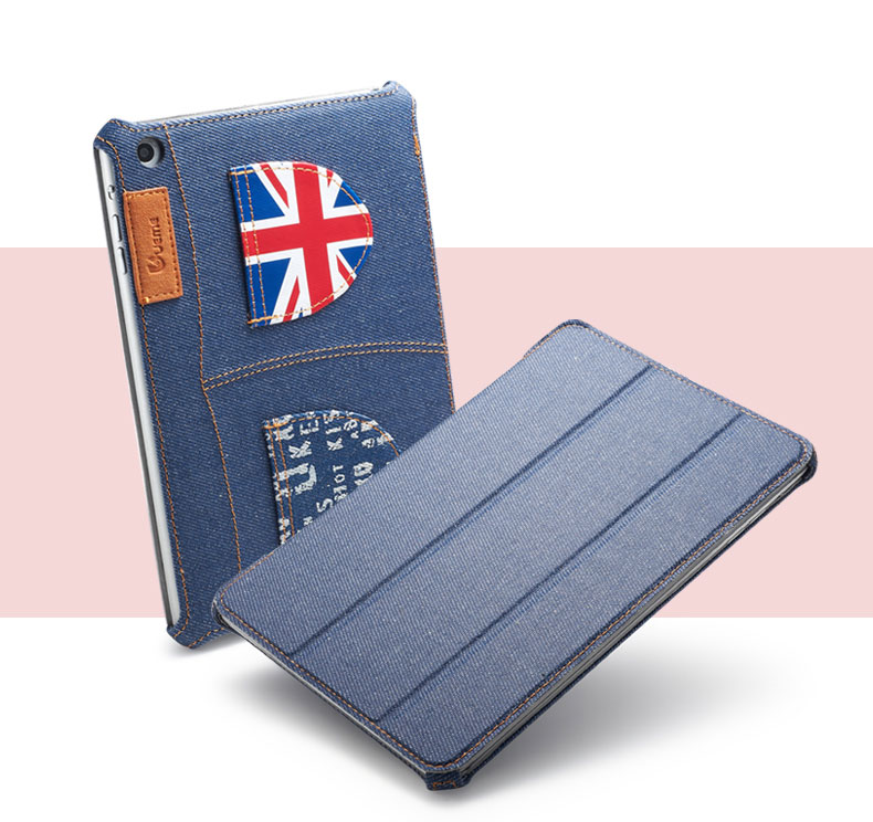 10pcs/lot Denim case for iPad mini1 2 unique top quality famous brand wholesale DHL free shipping<br>