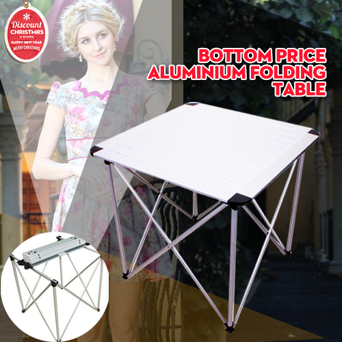 Quality Detachable 70*70*70 cm size Aluminum structure Folding table for Garden use and outdoor dinner Picnic party(China (Mainland))