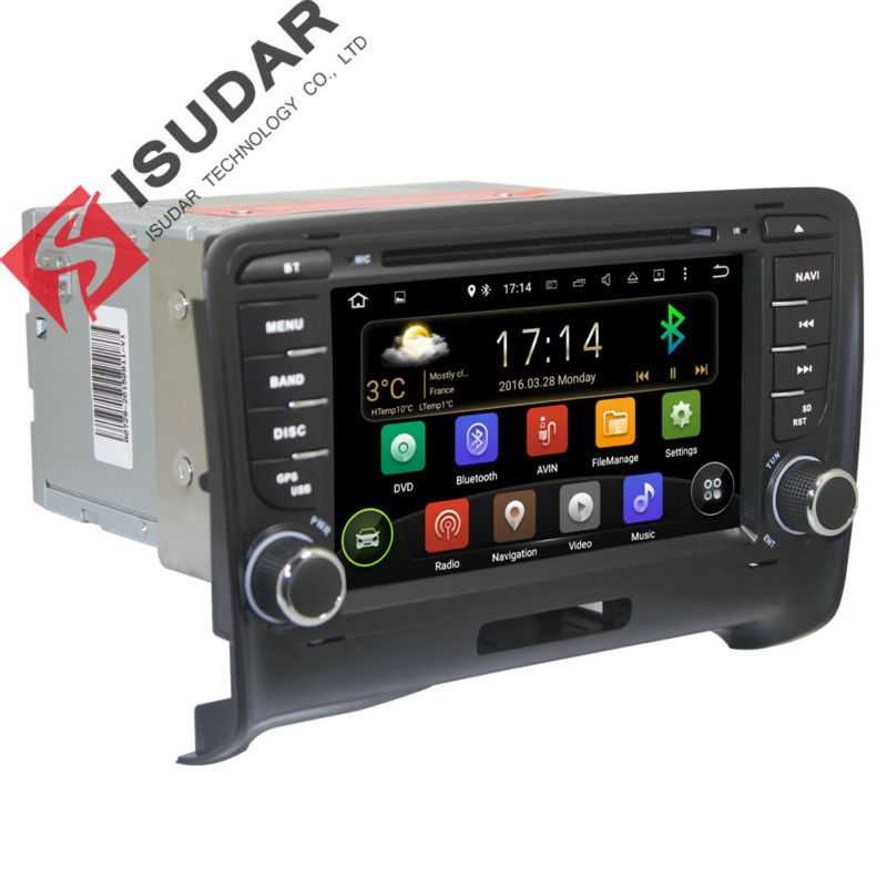 Dual Core 1.6G Andorid 4.4.4 7 Inch In Dash Car DVD Player For Audi/TT