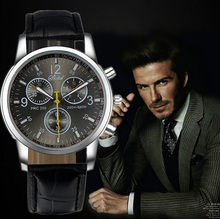 2015 New Quartz Men Watches Fashion&Casual Luxury Leather Watch Elegant Sports Out Door Wristwatch relojio Hot Sale! Free Ship