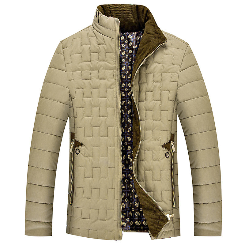 YKM Winter 2015 new men jacket Collar cotton padded clothes men coat