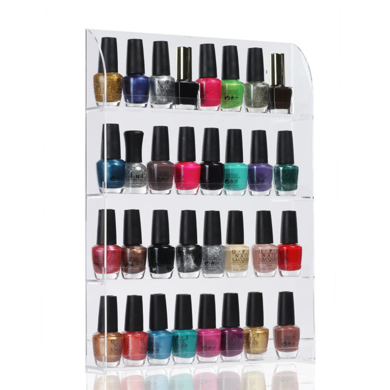 5 Pieces/ lot 36 Bottles Clear Acrylic Nail Polish Salon Exhibition Displays 4 Layers Polish Rack Storage Walls Retail  F0206X<br><br>Aliexpress
