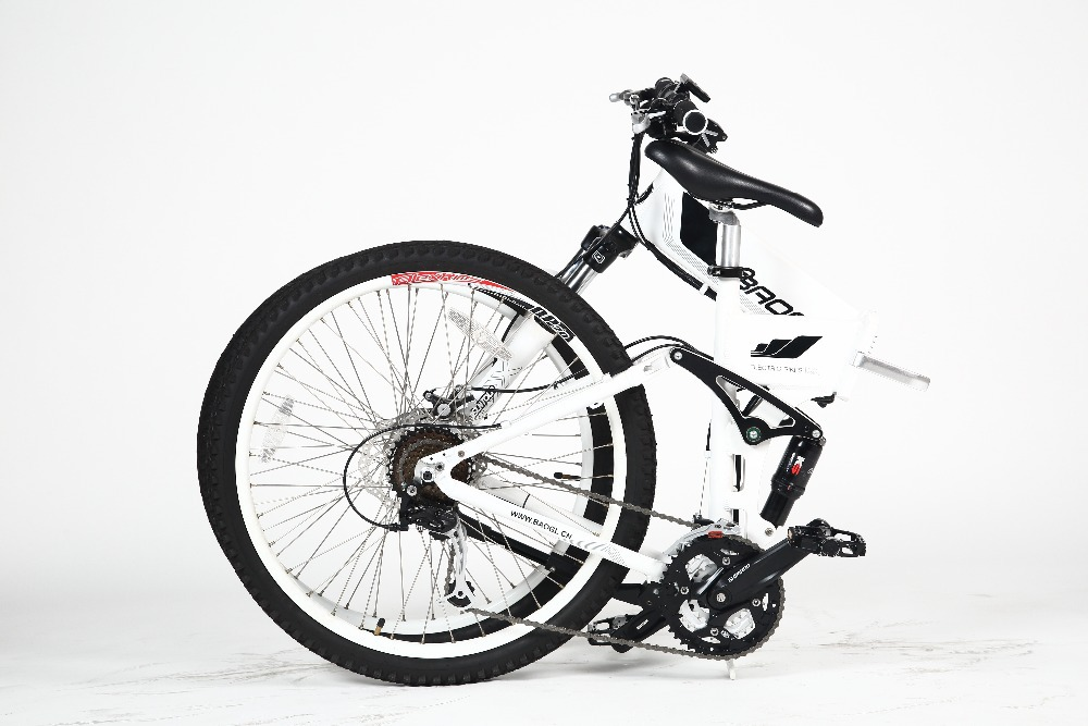 26 inch folding electric bicycle with 250w brushless hub motor