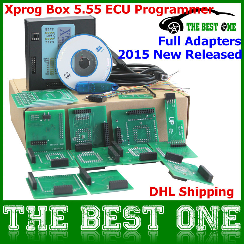 Lastest Version Xprog Box 5.55 X-prog M V5.55 ECU Programmer Xprogm EEPROM Read and Write with All Adapaters Set (China (Mainland))