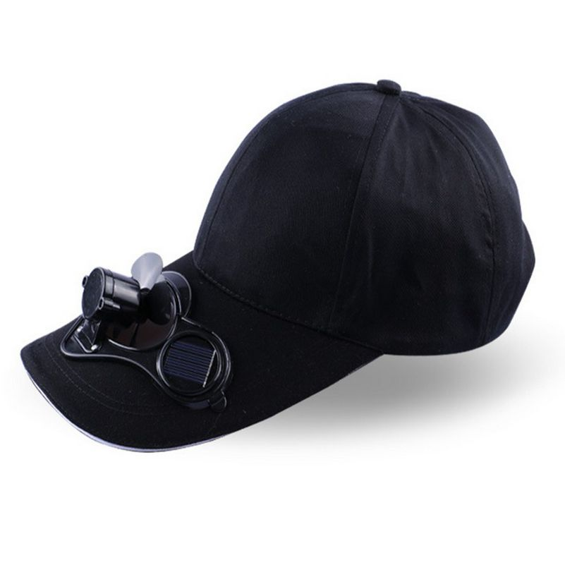 Mr.Kooky Novelty New Hot Men Women Solar Power Sun Baseball Hats With Cooling Fan Summer Boys Girls Funny Caps Camping Traveling(China (Mainland))