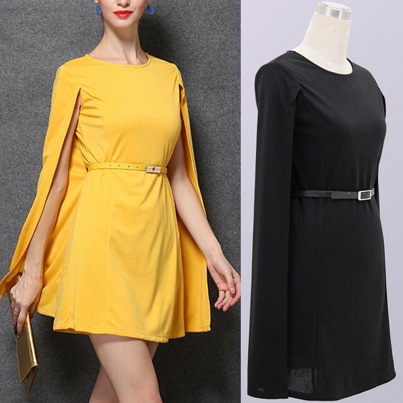 Женское платье New 2015 Batwing vestidos s m l Freeship capedressBlkS женское платье 2015 batwing
