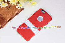 Hybrid Kickstand Kick Stand Hard Plastic PC TPU Gell silicone Matte Soft skin cover case cases For Iphone6 6 6G Air 4.7 100pcs
