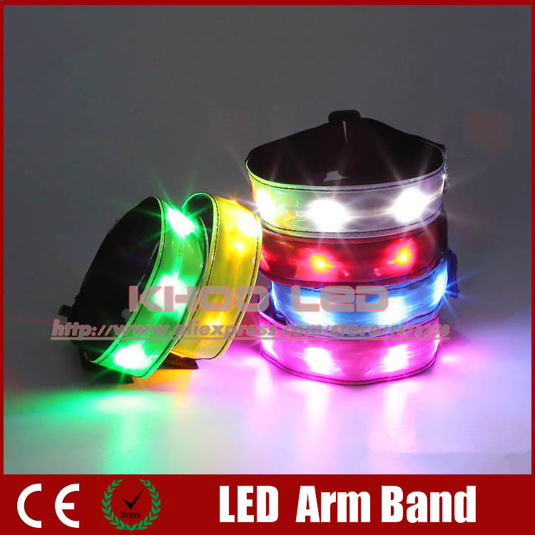Wholesale Hot LED Light Armband Outdoor Safety Warning Products Evening Entertainment Cheering Props LED Armband Velcro Armband(China (Mainland))