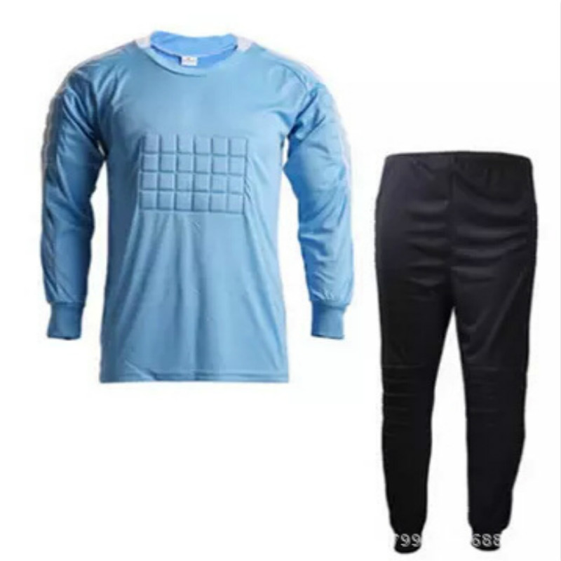 Goalkeeping Football Jerseys Long Sleeve Soccer Jersey Suit Male Soccer Goalkeeper Clothing Jersey Football Clothes Suit(China (Mainland))