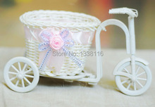 Hot Sale High Quality Flower vase plastic rattan wicker trycycle vase home decoration Receiver Flower Set(China (Mainland))