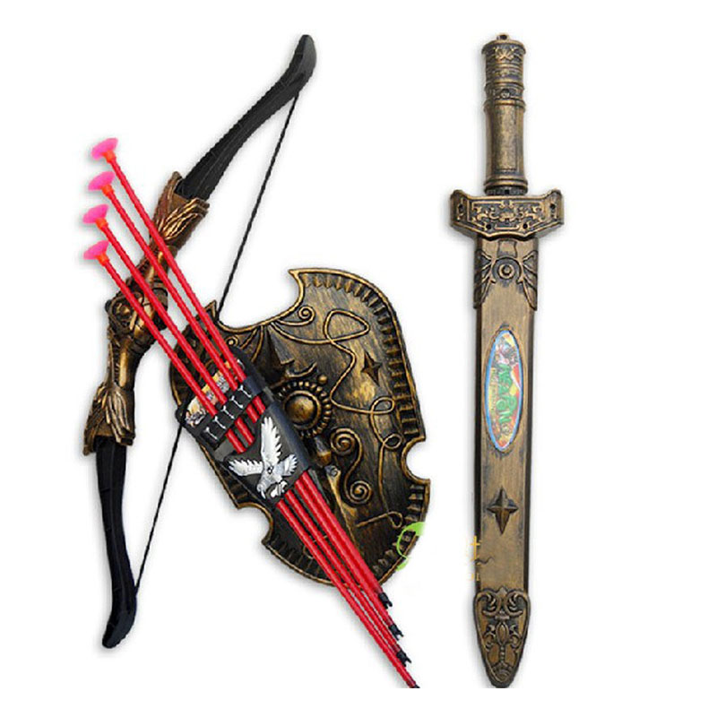 New Arrival Children Toys Bow and Arrow Double-edged Sword Shield Sucker Simulation Archery Toys Bow and Arrow Free Shipping<br><br>Aliexpress