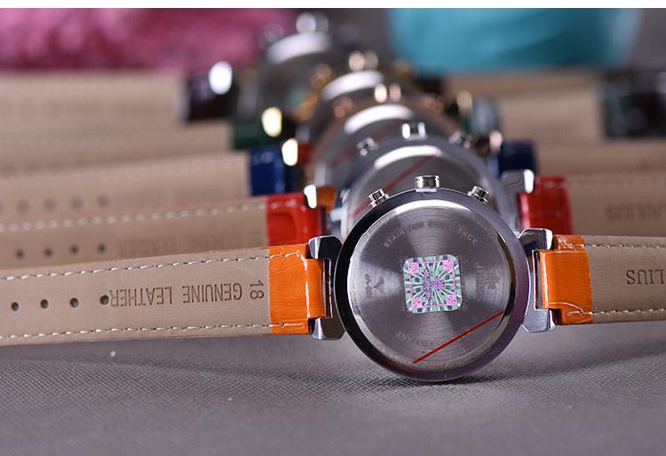 Женщин юлий леди наручные часы Swis кварцевых часов лучший мода платье браслет оболочки спортивные кожа дата рождения девушке подарок JA-850