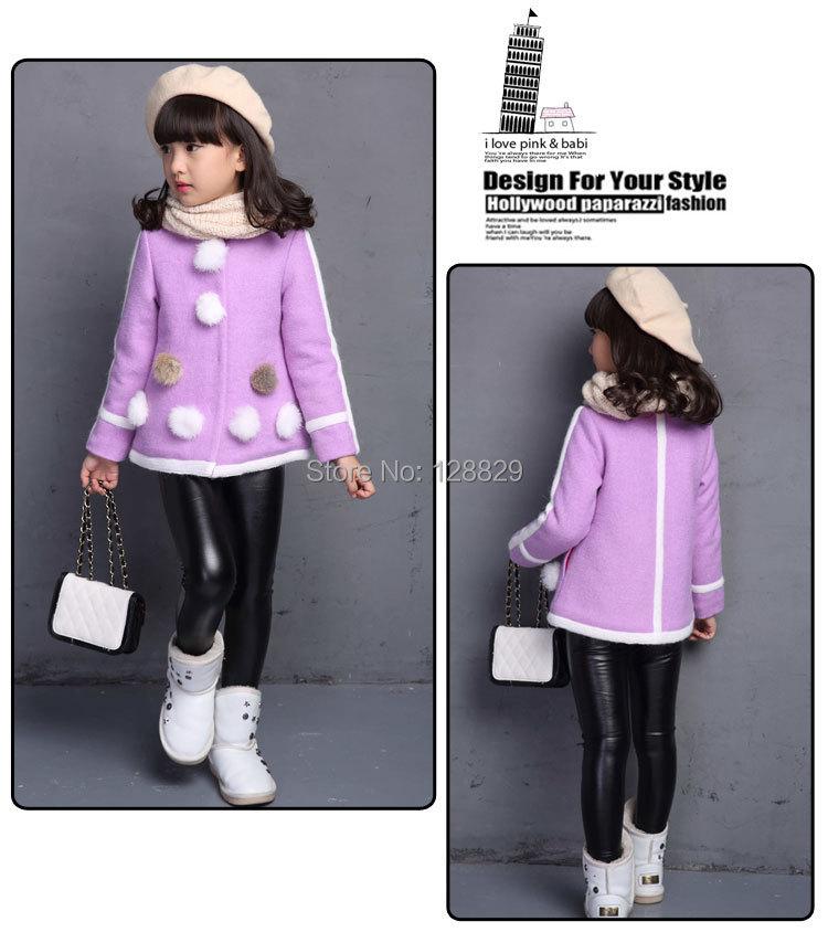 Осень и зима девушки одежды мода с длинным рукавом в полоску куртки bobbles девушки шерстяное пальто новый бренд рождество детская одежда